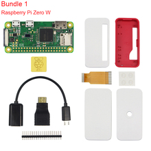 Raspberry Pi Zero W Kit + Official Case + Camera + Micro OTG Cable + GPIO Header + Mini HDMI Adapter + SD Card + USB Cable
