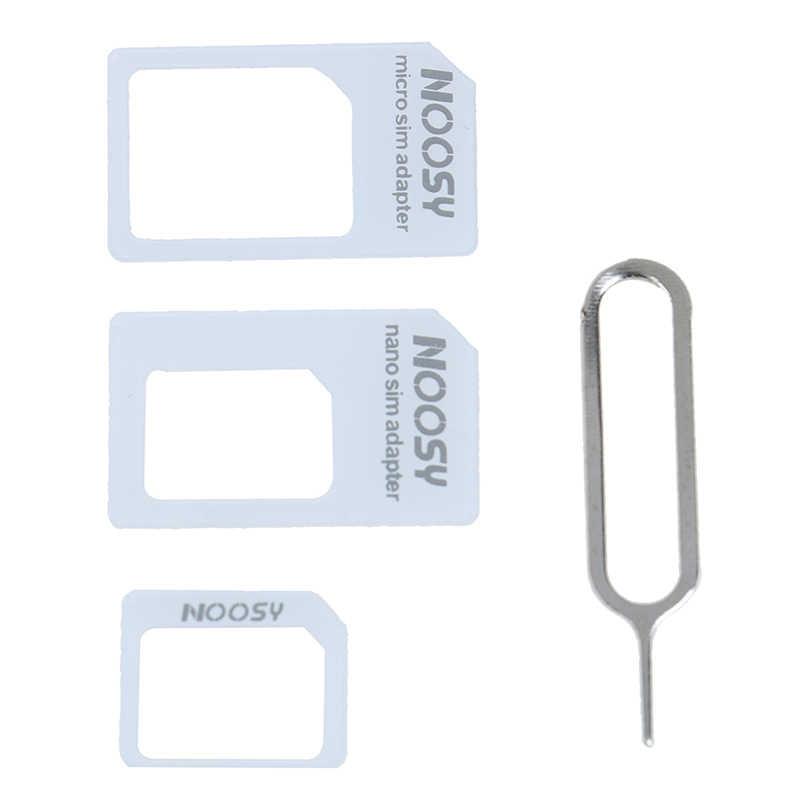Accesorios de tarjeta SIM 4 en 1 compatible con micro soporte para tarjeta SIM compatible con iPhone 7 6s 5S Samsung huawei xiaomi kit adaptador