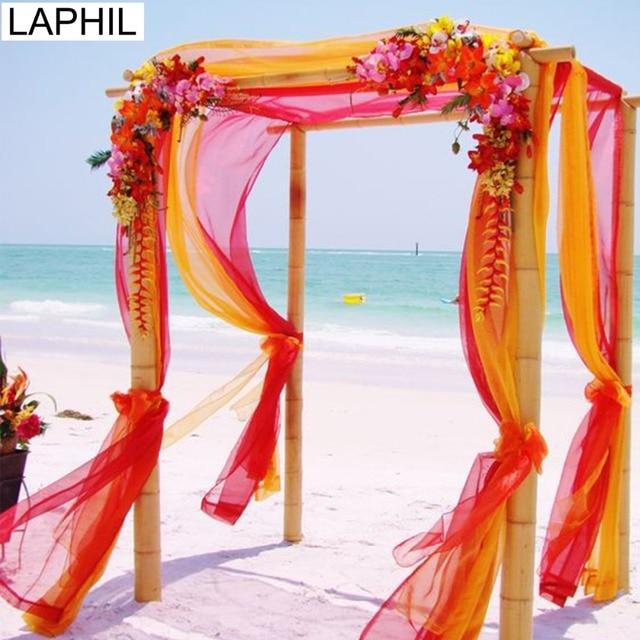 Diy Wedding Arch With Tulle: Aliexpress.com : Buy LAPHIL 5M 48cm Sheer Crystal Organza