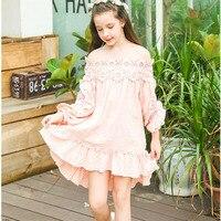 2017 nueva primavera vestido de niña vestido de Princesa ropa de niña princesa adolescente niñas de encaje vestido de los niños vestidos formales