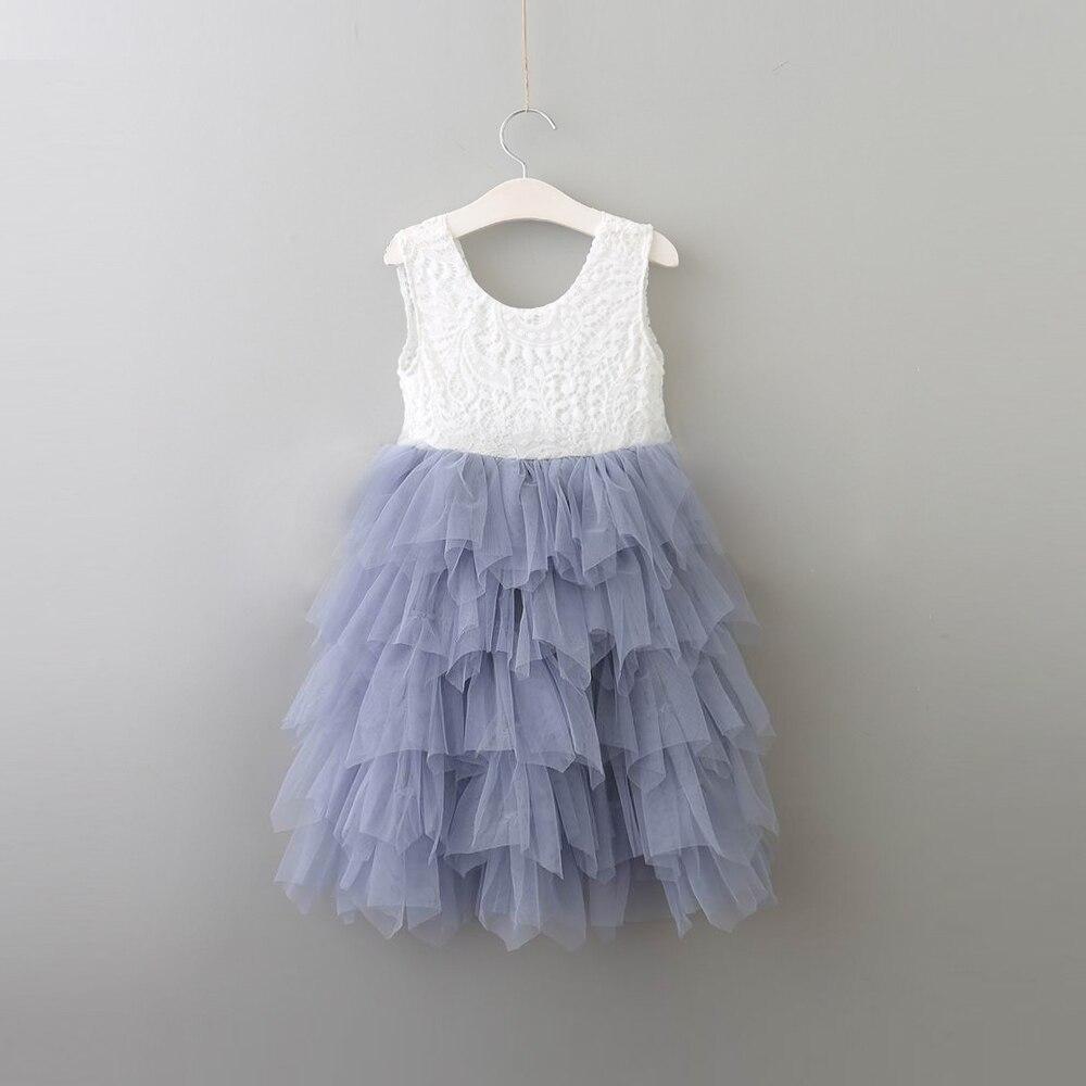 2018 new color children girls tutu dress beautiful flowers girls sleeveless vestido clothing kids wedding party dress-in Dresses from Mother & Kids    1