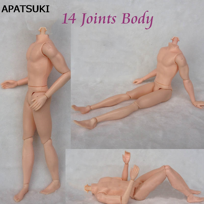 26cm 14 Moveable Jointed Doll Body For Barbie's Boyfriend Ken Male MAN Naked Body Prince Ken Nude Doll DIY Learning Toys a toy a dream moveable 14 joints prince nude doll body 1 6 naked man body with head shoes for ken male doll s toys doll gift