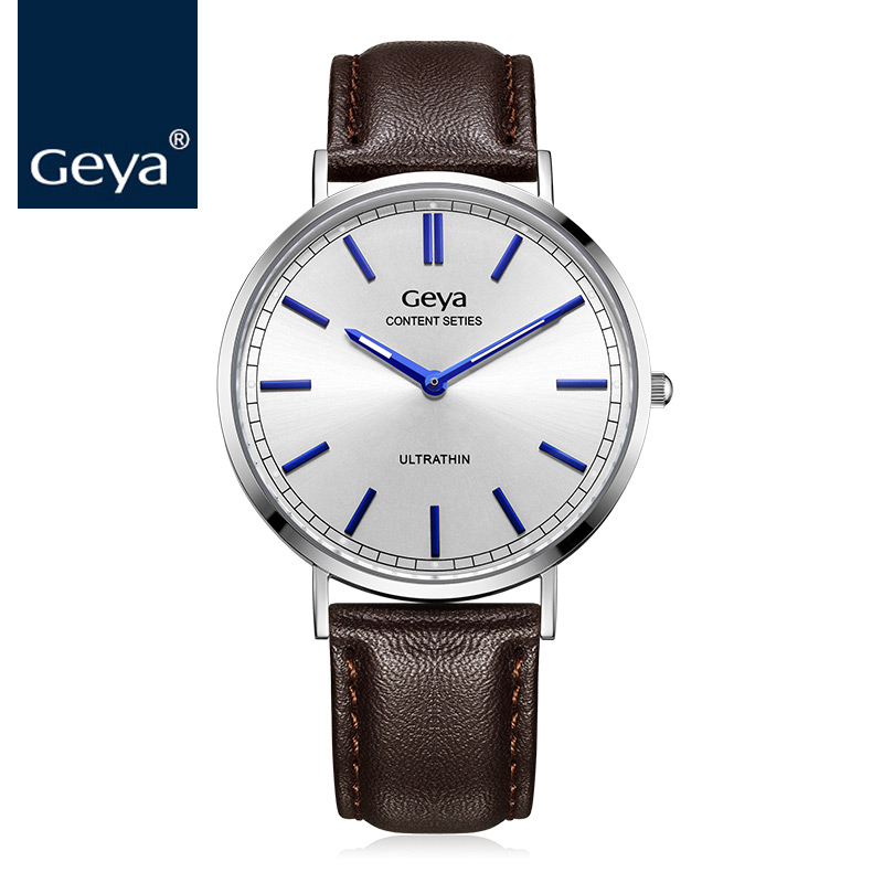 Geya Japan Miyota GL20 Movement Quartz Men Wrist Watch Fashion Sports Leather Watchband Male Clock Luxury Brand Man Quartz Watch цена 2017
