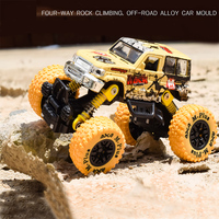 1 30 Scale Mini Alloy Metal Diecast Car Baby Toys Kids Pull Back Jeep Model Four