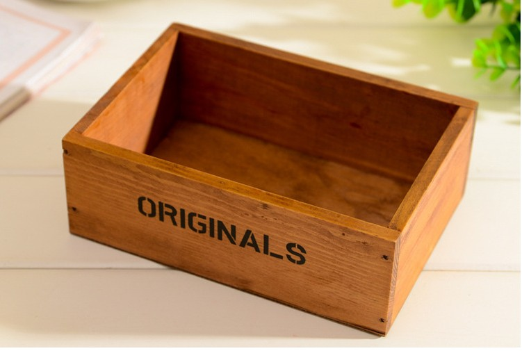 Zakka Do The Old Wood Vintage Small Framed Cosmetic Storage Box Desktop  Storage Box Storage Small Wooden Box In Storage Boxes U0026 Bins From Home U0026  Garden On ...