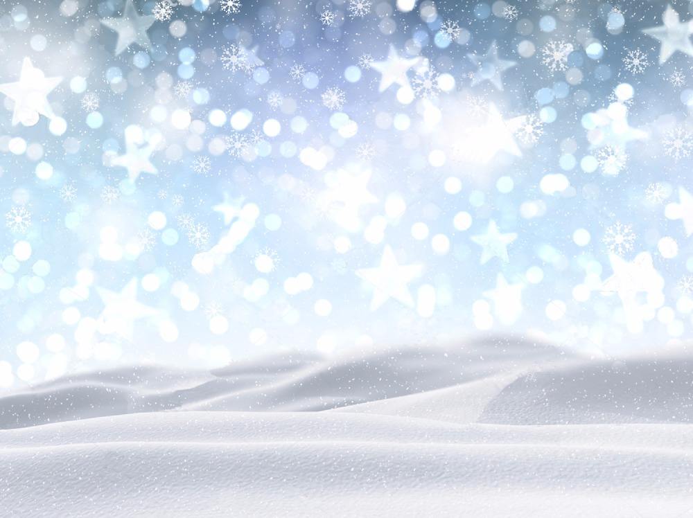 LIFE MAGIC BOX Vinyl Star Backdrop Sparkle Backdrop Christmas Photo Studio Snow Background