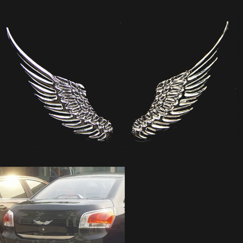 3d alloy metal angel hawk wings emblem badge decal car logo sticker gold silver 2 colors on aliexpress com alibaba group