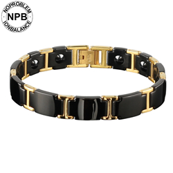 Noproblem choker anti-fatigue hologram metal infinity punk 99.99% pure Germanium powder bead bracelet for men все цены