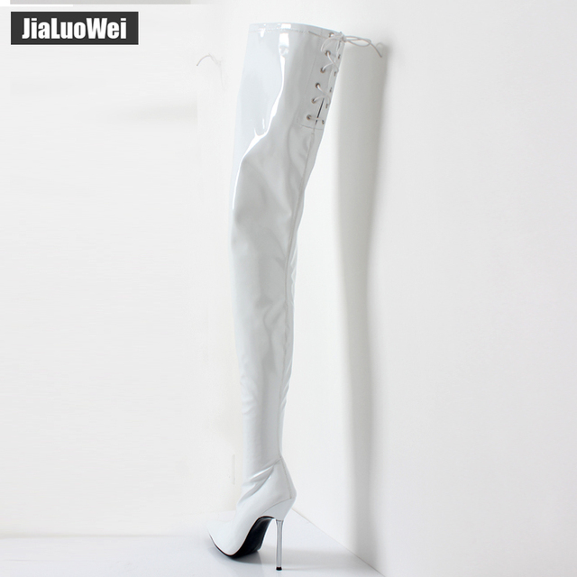 2018 Women's Winter/Autumn Folding Over the Knee Boots Sexy Thin High Heel Boots Fashion Pointed toe Boots Women Shoes Big Size 6