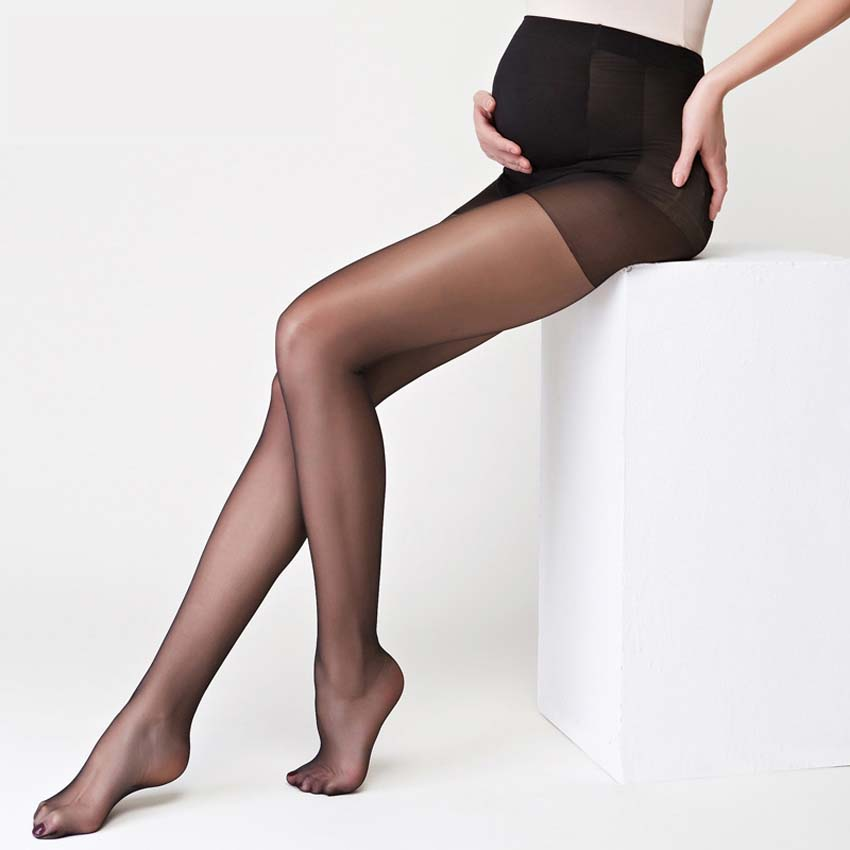 c54665568542a 2 Pcs Maternity Ultra Thin Tights Stockings Pregnant Women Pregnancy ...