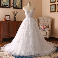 Vestido De Novia 2016 See Through Long Sleeves Lace Sexy Wedding Dress White Vintage Bridal Gown