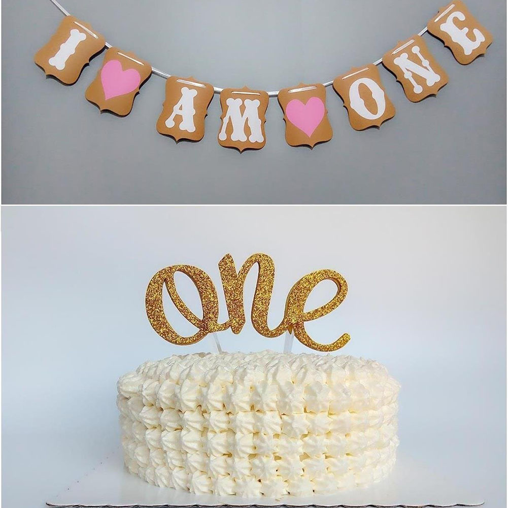 Baby 1st Birthday Party Decorations I Am One Bunting Banners Boy Girl My 1 Party Decoration First Year Garland Bunting Supplies