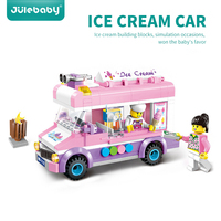 213 pcs design building blocks toys for children boys kids Compatible with legoing brick educational model Ice cream truck