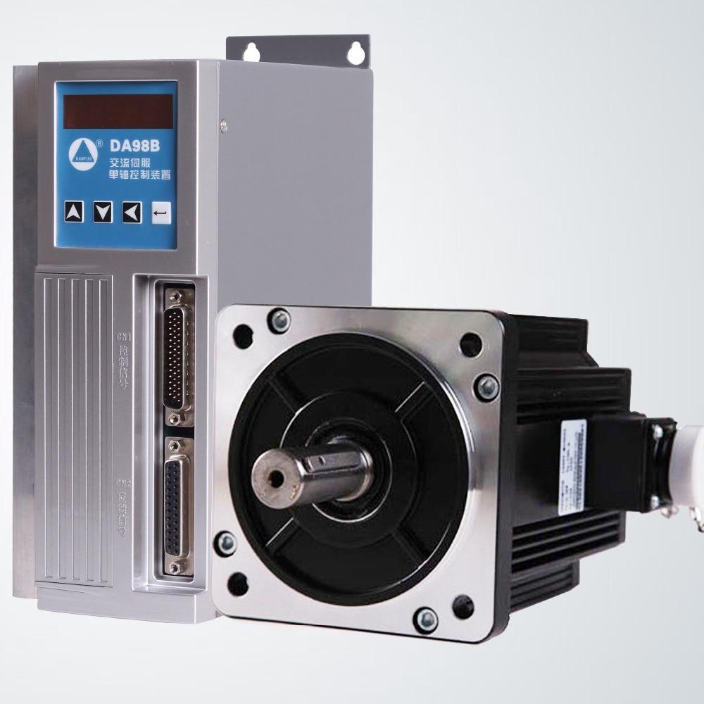 Affordable servo drive and servo motor 1.8 KW, 6 N.m, 110 flange, send 3 m wiring ac servo motor drive plus 80 flange servo motor 1kw complete set of servo system to send 3 wire