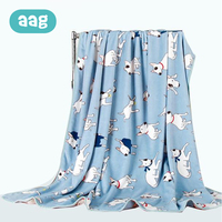 AAG Baby Children Blanket Flannel Cute Cartoon Air Condition Carpet Napping Blanket Spring And Summer Large Blankets Quilt 25