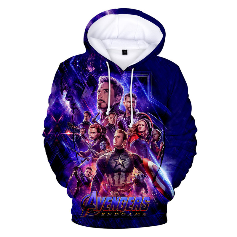 Avengers 4 Endgame Hoodie Sweatshirt 3D Cosplay Costume Quantum Hoodies Jacket Hooded Tracksuit Men/women Sweatshirt XXS-4XL