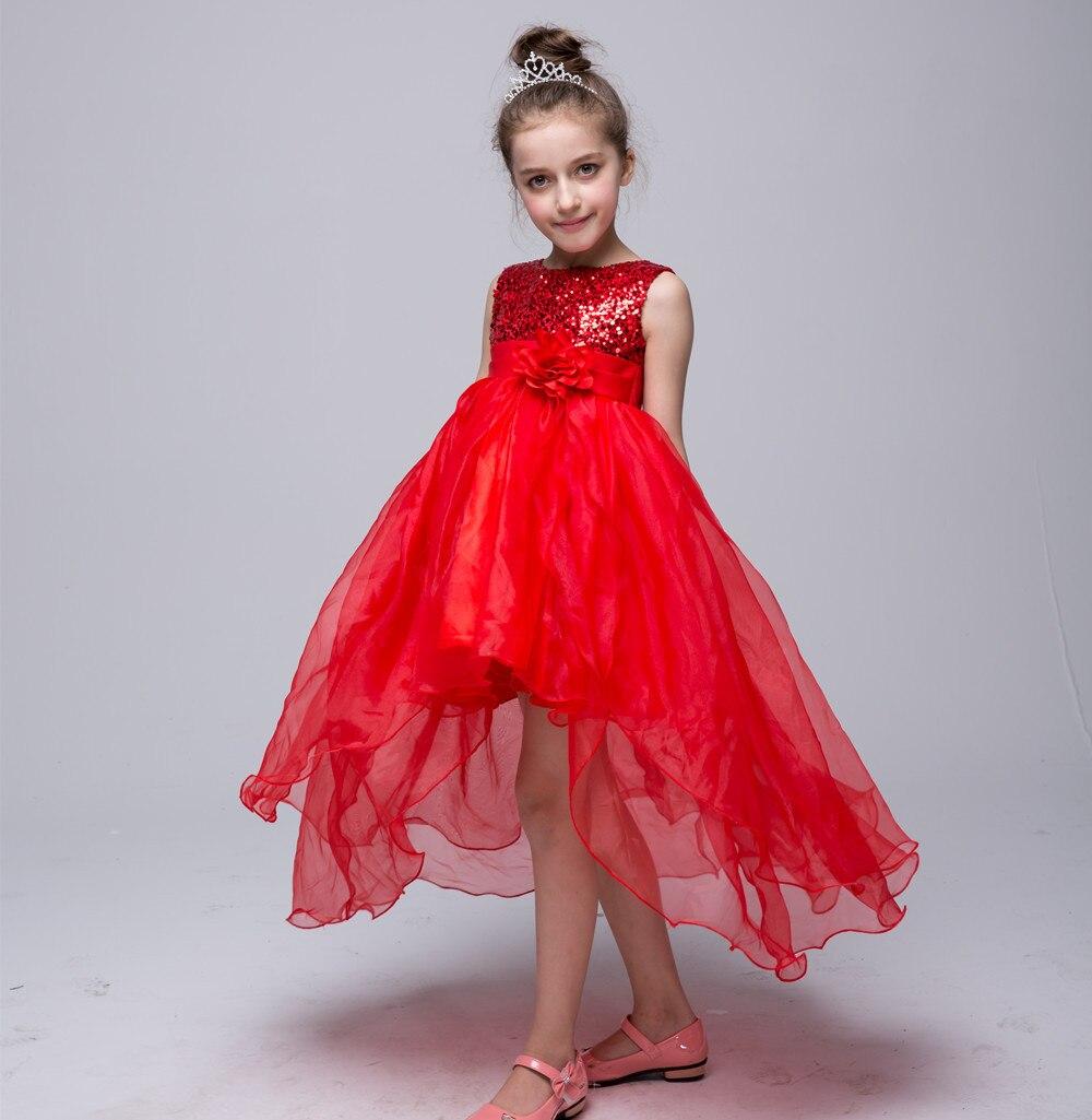Sleeveless Kids Summer Dress Sequins Voile Princess Deguisement Fille Europe America Party Show Vestidos Infantil Cute Wedding