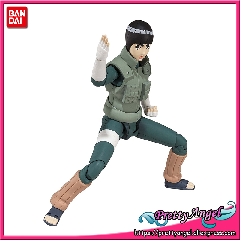 PrettyAngel - Genuine Bandai Tamashii Nations S.H.Figuarts Exclusive NARUTO Shippuden Rock Lee Action Figure все цены