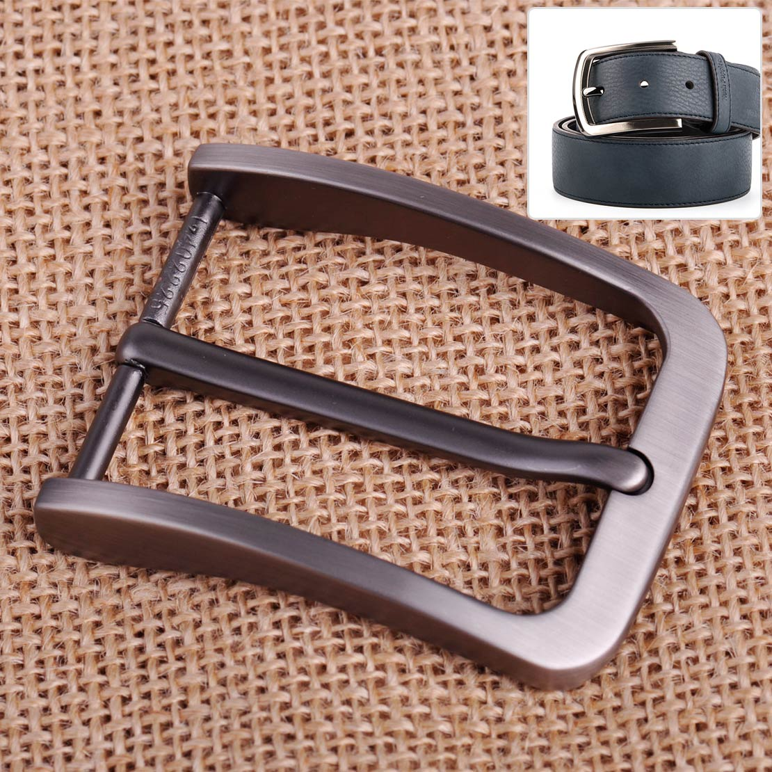 Alloy Prong Pin Clip Buckle Men Leather Belt Replacement Old Silver Belt Buckle