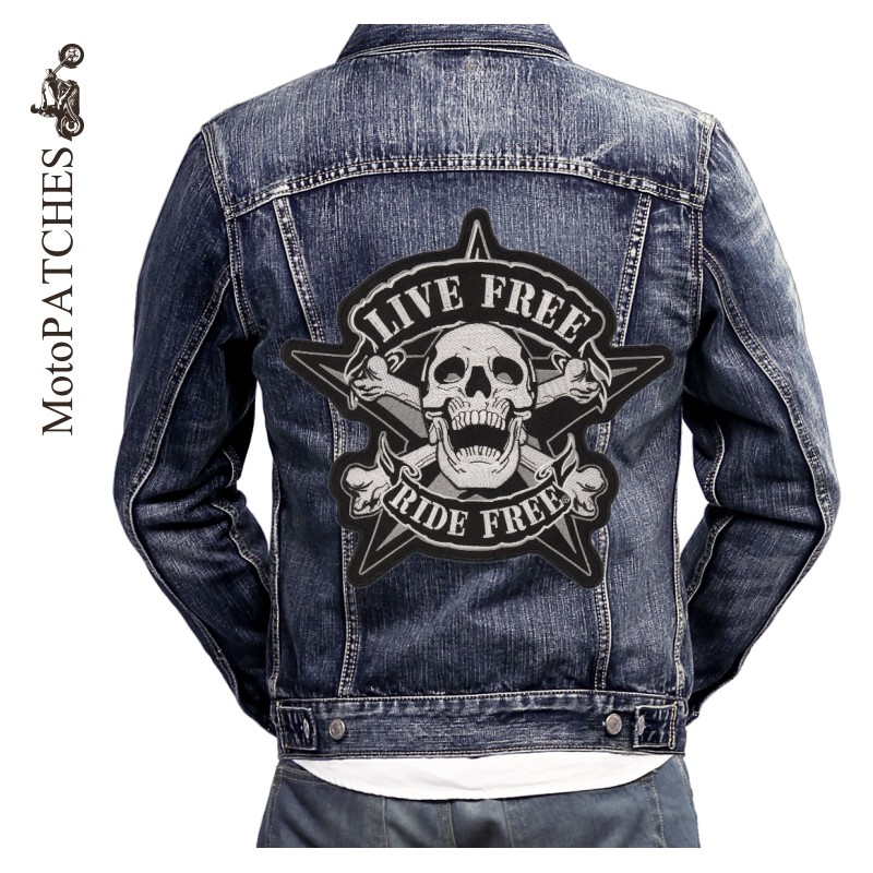 MotoPATCHES Engine Skeleton Motorcycle Biker Patches For Clothing ...