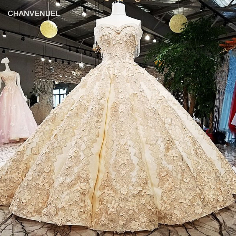 LS65411 1 big skirt bridal gown sleeveless golden champagne color evening dress with lace tain buy direct from china online shop