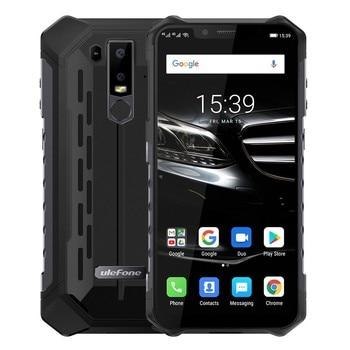 Перейти на Алиэкспресс и купить Ulefone Armor 6E IP68 прочный ударопрочный мобильный телефон Android 9,0 6,2 дюйм4G + 64G мобильный телефон NFC телефоны Беспроводная зарядка 4G смартфон