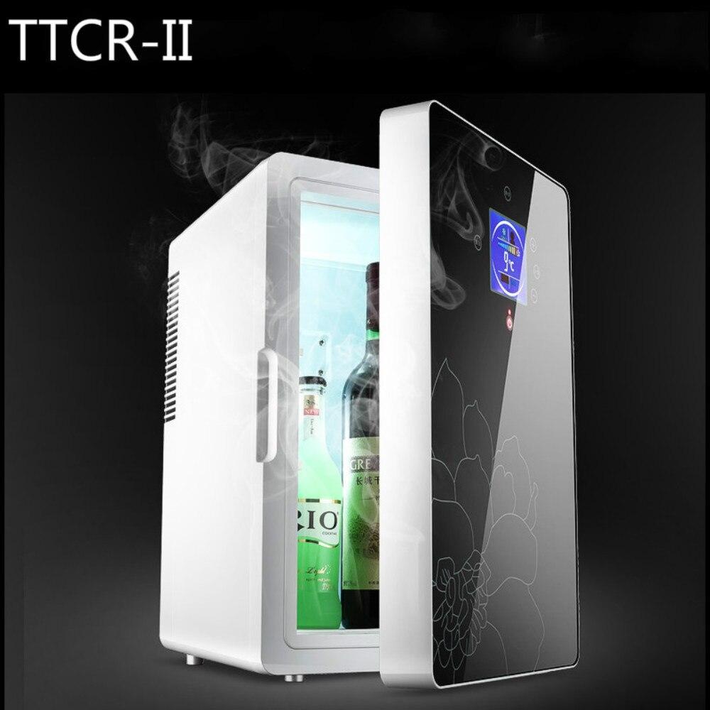 imágenes para 16L 220 v 12 v Dual-core Pantalla LCD Mini Nevera Coche ABS de Múltiples Funciones del Hogar Refrigerador Congelador calentador automático Portátil Frigorífico Congelador