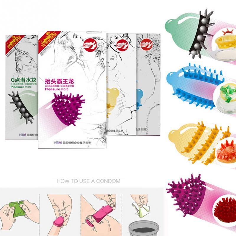 3pcs/box Adult Sex Toys Allotype G-Spot Vaginal Stimulation Penis Sleeve Spike Condom For Men
