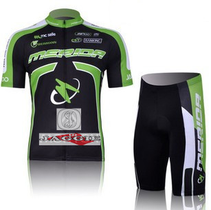Free shipping! MERIDA 2011 team cycling jersey shot short sleeve jerseys Z123 bike bicycle riding wear set