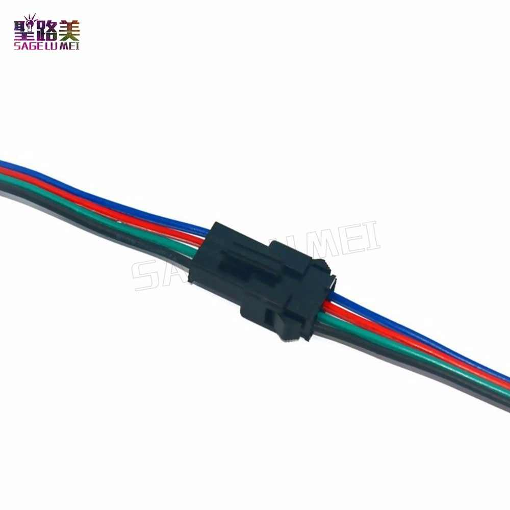Detail Feedback Questions About 50 Pair 3pin Jst Sm Plug Led Quick Adapter Wiring Connector Multi Color Rgb 5050 Smd Strip 10pair 20 Pairs 50pairs 4 Pin Male To Female 4pin