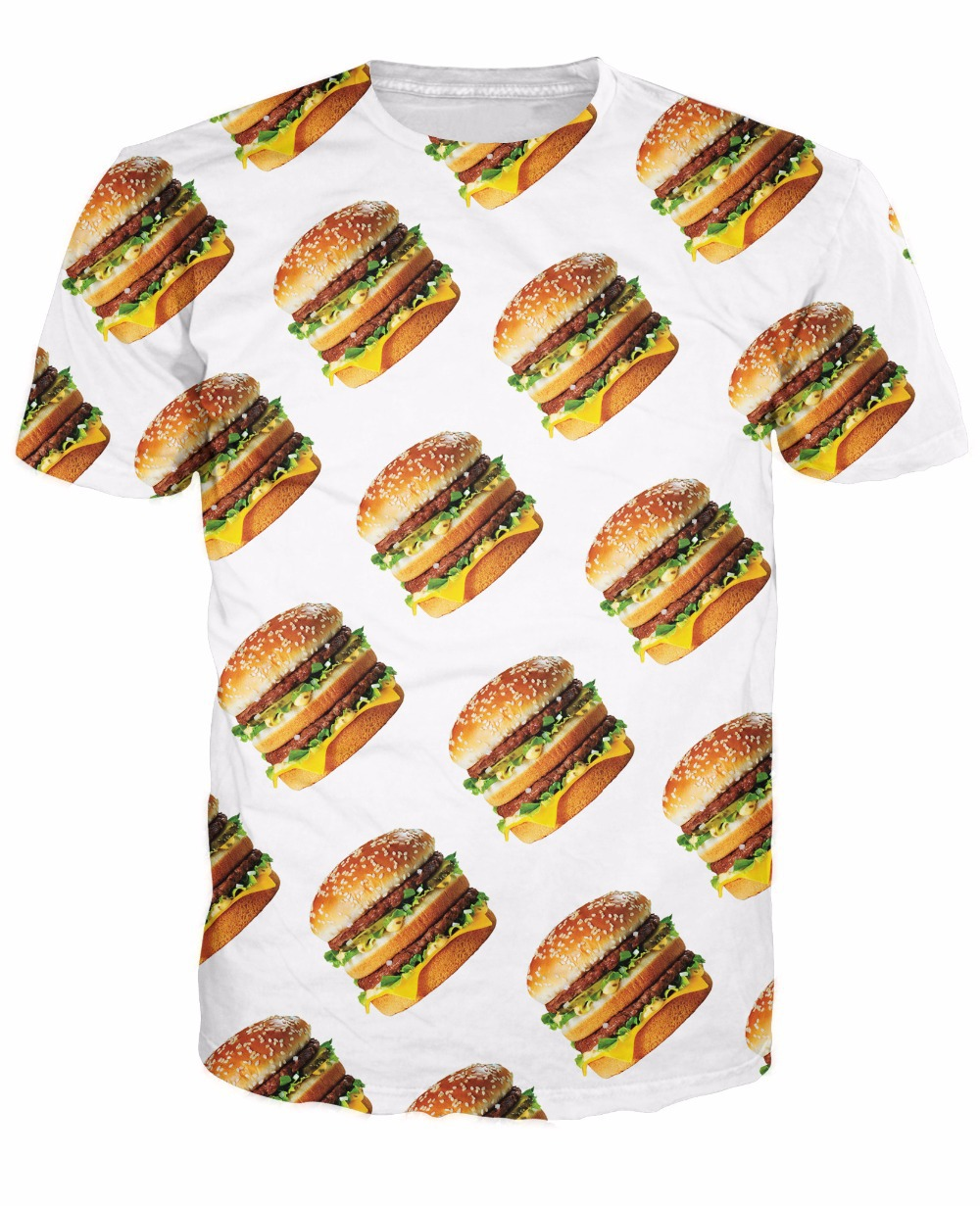 Design t shirt on mac - Big Mac T Shirt The Famous Fast Food Cheeseburger 3d Print Casaul T Shirt Summer Style Fashion Clothing Tops Tee For Women Men