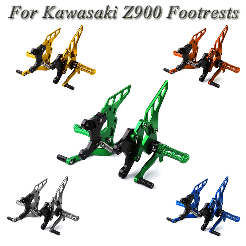 For Kawasaki Z900 2017 2018 Motorcycle CNC Aluminum Footrest Rear Sets Adjustable Rearset Foot Pegs Moto Accessories FootpegsFor Kawasaki Z900 2017 2018 Motorcycle CNC Aluminum Footrest Rear Sets Adjustable Rearset Foot Pegs Moto Accessories Footpegs