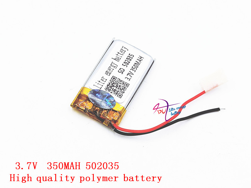 3.7V lithium polymer battery 502035 052035 350MAH small toys MP3 recorder Liter energy battery liter energy battery 3 7v polymer lithium battery 401215 mp3 mp4 60mah bluetooth headset small toy sound