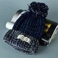 Mujeres Nuevo Diseño de Tapas de Las Mujeres Sombrero de Invierno gorros de Punto beanie Sombreros de Moda Para Las Mujeres 4 colores