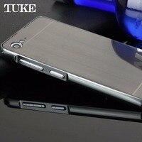 TUKE  Metal Aluminum Frame Brush PC Acrylic 2 in 1 Case For Lenovo ZUK Z2 Cover Capa Para Funda with TPU Anti-Knock