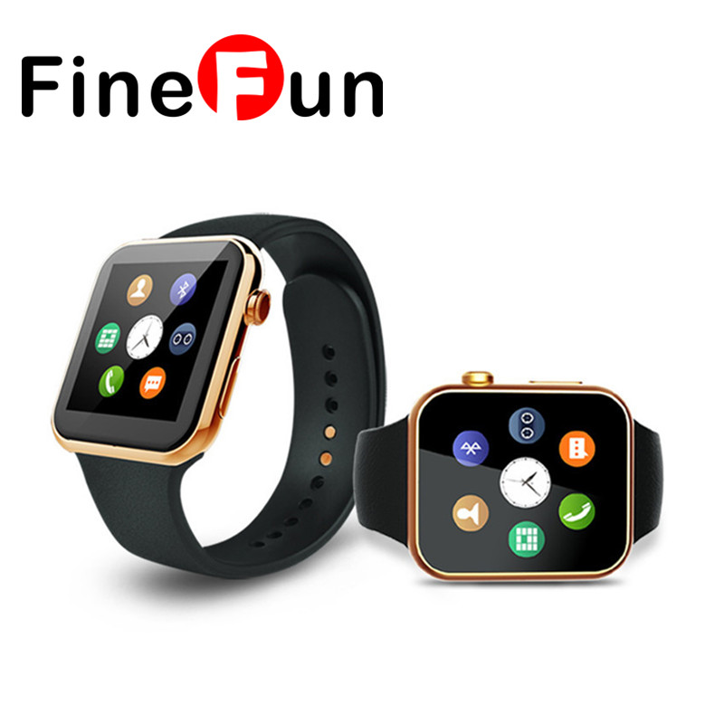 FineFun Smart watch A9 Bluetooth Heart rate Pedometer Smartwatch for IOS Android Phone relogio inteligente reloj Smartphone lemfo lem5 android 5 1 smart watch phone 1gb 8gb heart rate monitor pedometer google map smartwatch bluetooth for ios android