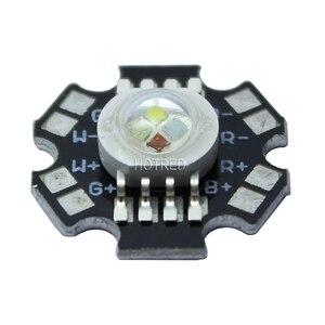Image 5 - 50 יח\חבילה 4*3 W 12 W RGBW RGB + לבן גבוהה כוח Led דיודה שבב מנורת אור אדום ירוק כחול לבן עם 20mm כוכבים בסיס