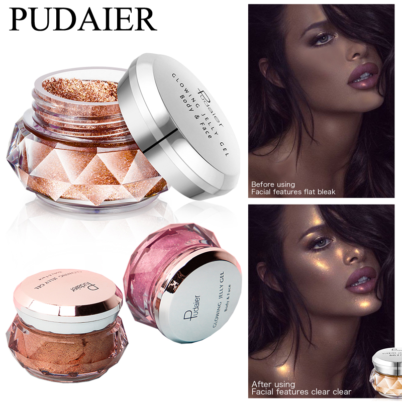 Eye Shadow Lower Price with Pudaier Hot Jelly Gel Highlights Powder 3d Face Persistent Body Highlight Paste Mermaid Eye Shadow For All Skin