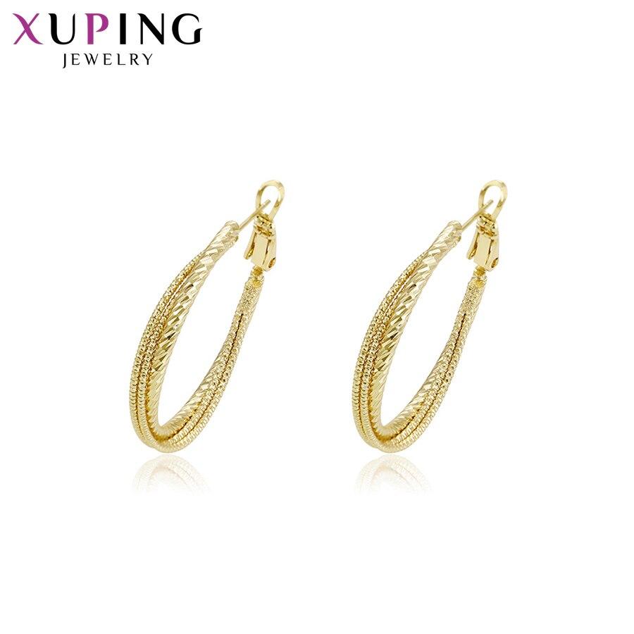 11,11 сделок Xuping модные элегантные серьги светло-желтого золота Цвет покрытием для Для женщин Рождество Jewelry подарки S78, 5-94635