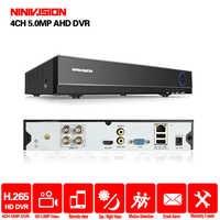 H265 + NINIVISION 5MP 4MP 4CH 4 Canal 5 en 1 vmeyesuper de híbrido WIFI TVi CVI NVR AHD DVR CCTV video de vigilancia Recoder