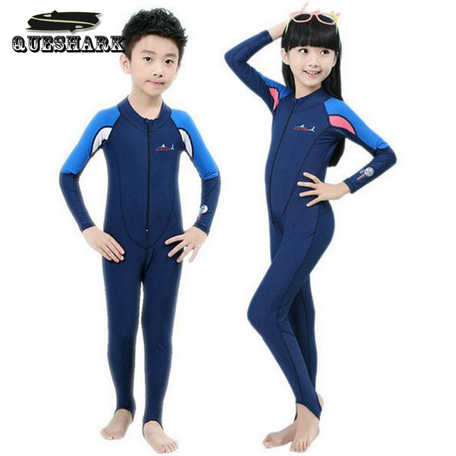 a57f636b8 Swimming Dress Kids Boys Girls Snorkeling Clothing Children's Sun  Protection Child Diving Suit Wetsuits