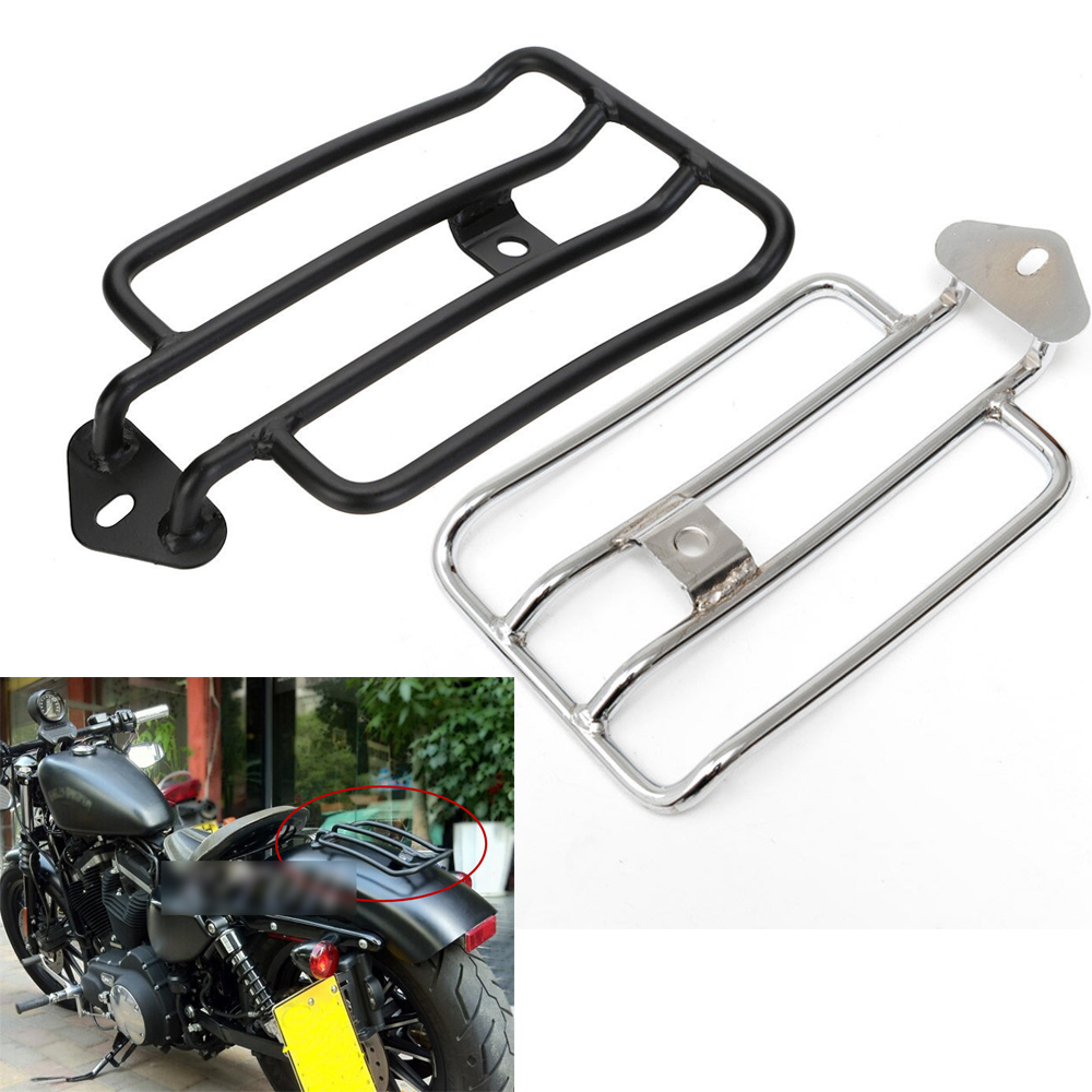 Cheap Sale Motorcycle Rider Rear Seat Luggage Rack Support Shelf For 04-15 Harley Sportster Xl 883 1200 Xl883n Iron Custom Xl883c Chrome Automobiles & Motorcycles Motorcycle Accessories & Parts