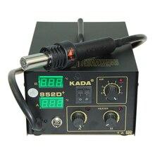 DHL Дешевые 220 В/110 В KADA 852D+ KADA852D+ паяльная сварочная станция SMT паяльник с горячим воздухом паяльная станция для деталей поверхностного монтажа SMD