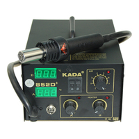 DHL Cheap 220v /110V KADA 852D+ KADA852D+ Rework Welder Station SMT Hot Air Soldering Iron SMD Solder Station