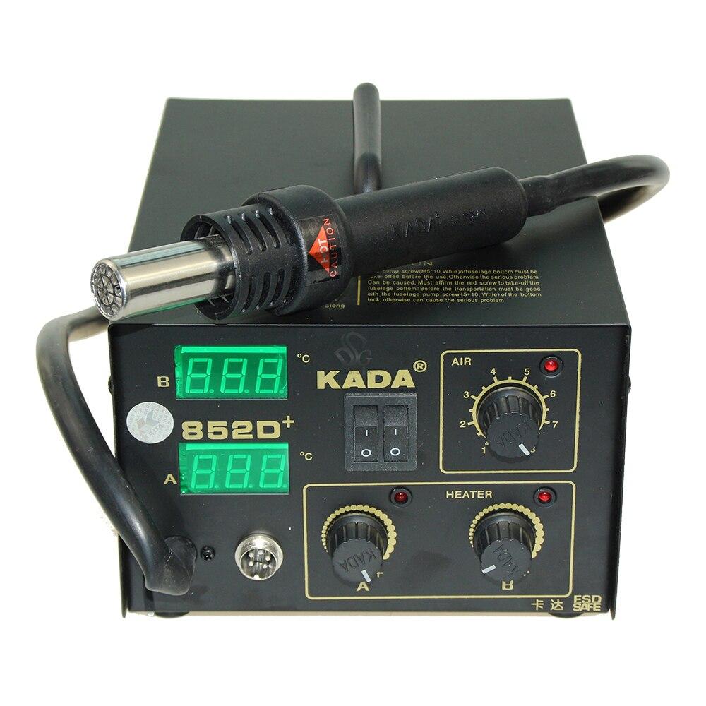 DHL pas cher 220 v/110 V KADA 852D + KADA852D + Station de soudeur de reprise SMT fer à souder à Air chaud Station de soudure SMD