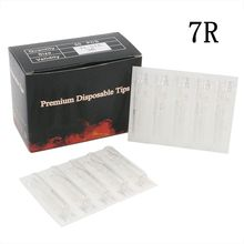 100PCS New Disposable Tattoo Tips 7RT Sterile Assorted Plastic Tattoo Tips Clear Nozzles Tube For Tattoo Machine Free Shipping