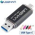 Leizhan unidade flash usb 3.0 16g 32g otg armazenamento externo usb de alta velocidade Tipo C 3.0 Memory Stick Mini USB Pen Drive De Metal U disco