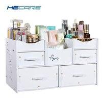 Eco friendly Plastic Cosmetic Organizer Waterproof Modern DIY Makeup Storage Drawer Organizer for Cosmetics Home Organization