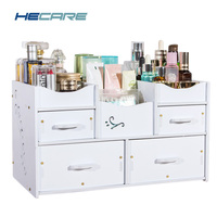 Eco friendly Plastic Cosmetic Organizer Waterproof Modern DIY Makeup Storage Drawer Organizer for Cosmetics Home Organization