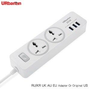 Image 2 - כוח רצועת שקע נייד רצועת תקע מתאם עם 3 יציאת USB רב תכליתי חכם בית אלקטרוניקה אוניברסלי שקע האיחוד האירופי בריטניה AU